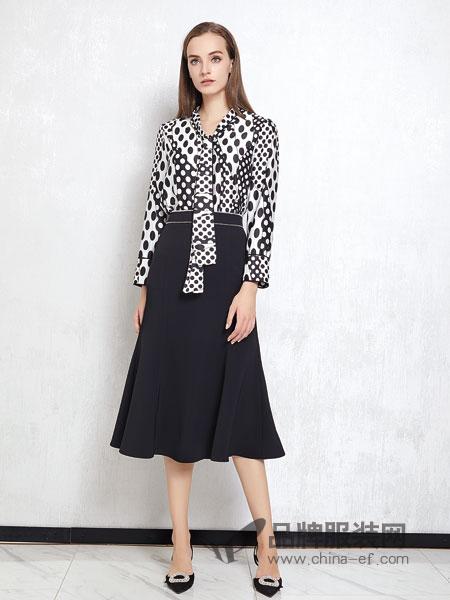 JAOBOO 乔帛女装品牌2019春季高腰修身荷叶边鱼尾半身裙半裙