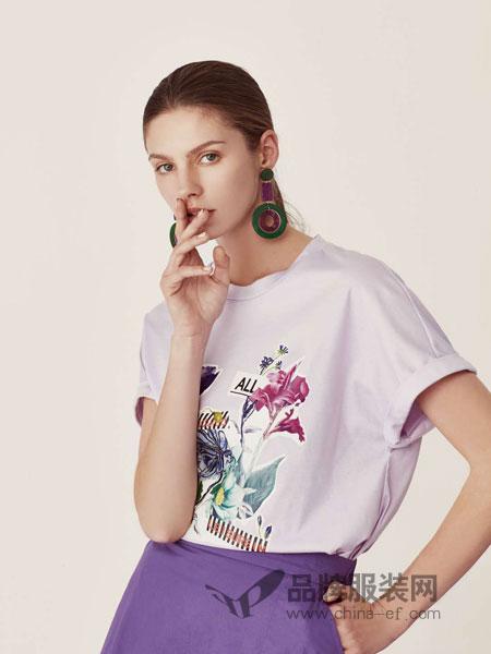 LEISURE女装品牌2019春季新款时尚百搭上衣T恤印花小衫