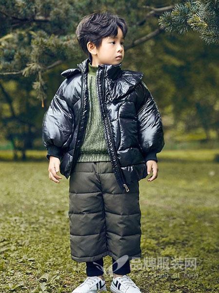 童年领域童装品牌2018秋冬洋气加厚白鸭绒小童外套
