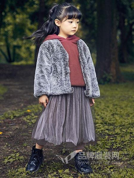 童年领域童装品牌2018秋冬高领短款翻领加厚韩版外套