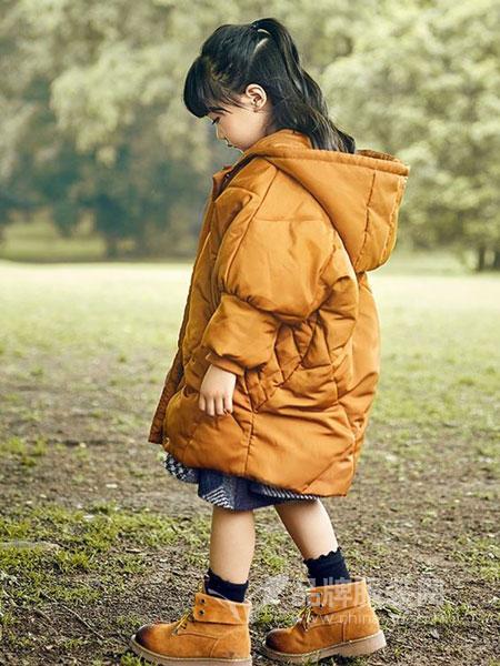 童年领域童装品牌2018秋冬新款韩版过膝连帽羽绒棉衣中长款加厚面包服