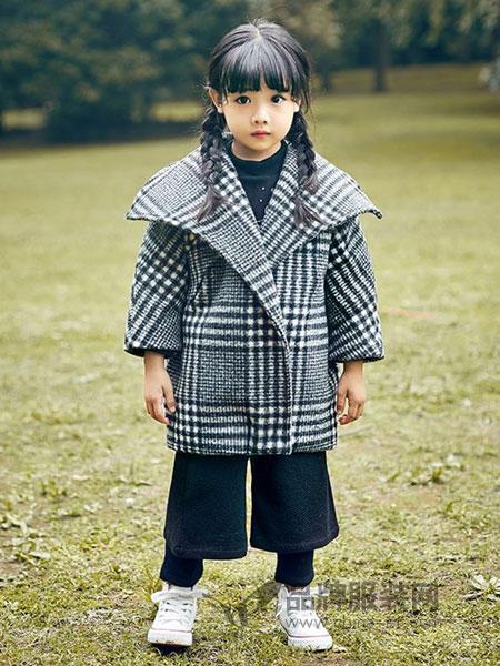 童年领域童装品牌2018秋冬呢大衣中长款夹棉保暖毛呢外套