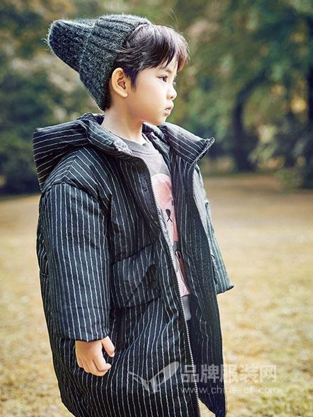 童年领域童装品牌2018秋冬新款文艺复古棉服棉衣宽松大码中长款加厚外套
