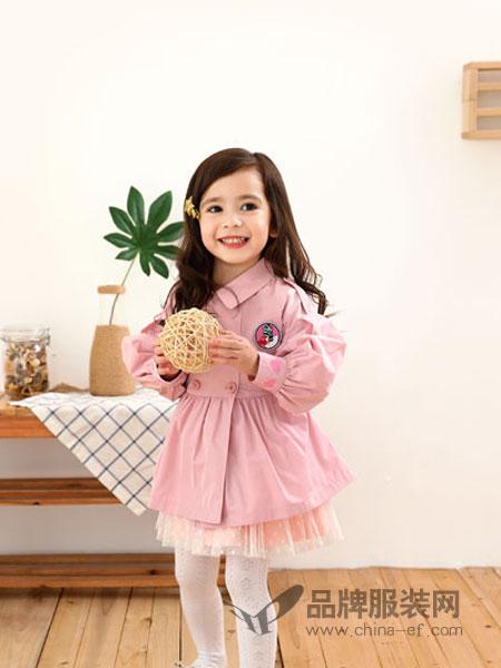 棉果果童装品牌2019春季新款韩版 中小童双排扣童外套