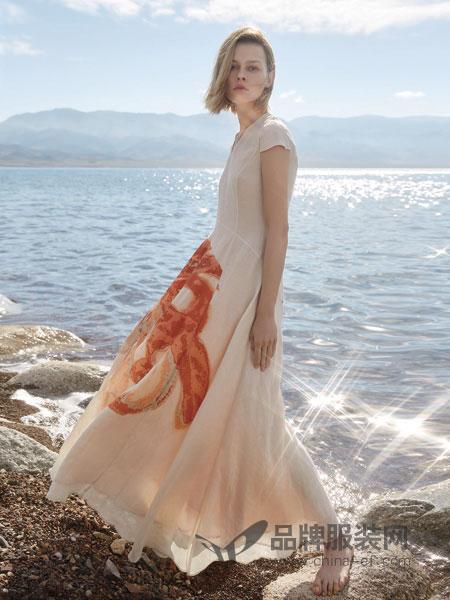 主提女装品牌2019春季新款高腰显瘦长裙连衣裙