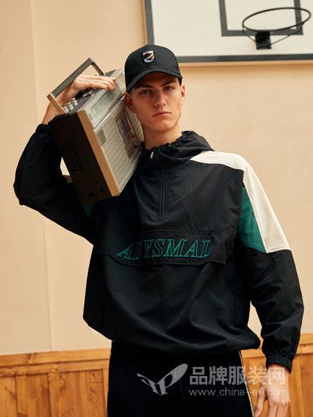 GRSAGA男装品牌2019春季潮流修身黑色印花薄款休闲棒球服夹克外套