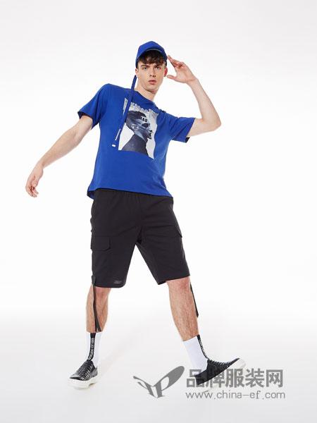 ZENL佐纳利男装品牌2019春夏人像字母印花纯棉圆领短袖T恤