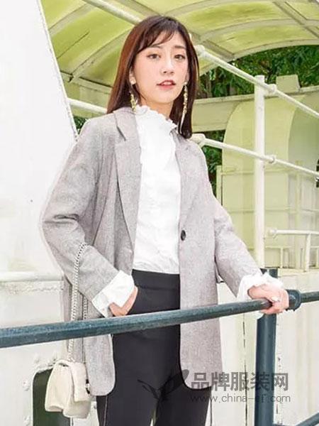 解构女装女装品牌2019春夏修身中长款时尚气质风衣外套西服