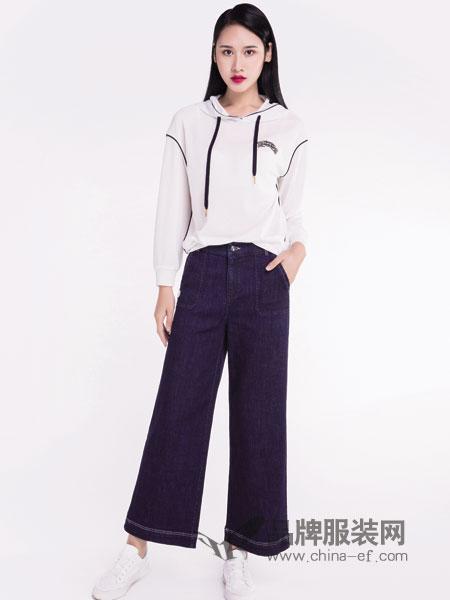 宝薇女装品牌2019春季 休闲舒适长袖针织衫