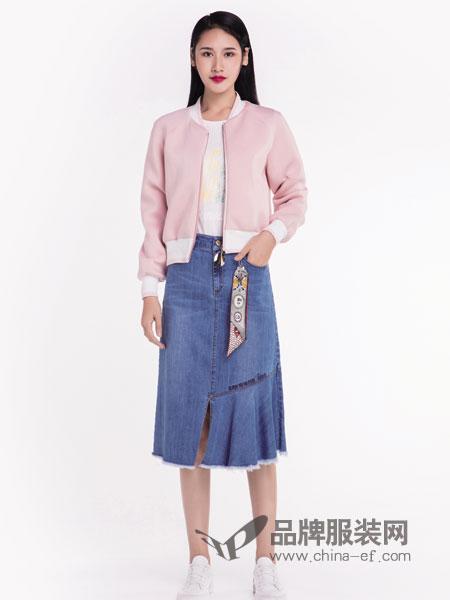 宝薇女装品牌2019春季新款宽松显瘦长袖外套潮