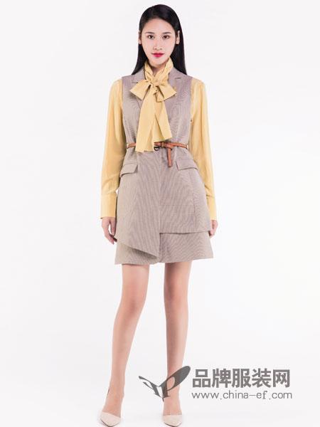 宝薇女装品牌2019春季新款一步裙端庄大气中长款短袖收腰潮