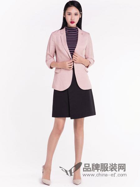 宝薇女装品牌2019春季新款通勤简约气质纯色小西装
