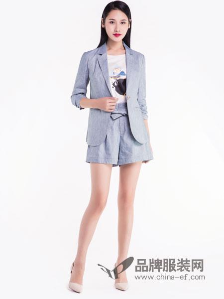 宝薇女装品牌2019春季新款韩版显瘦气质外套时尚两件套