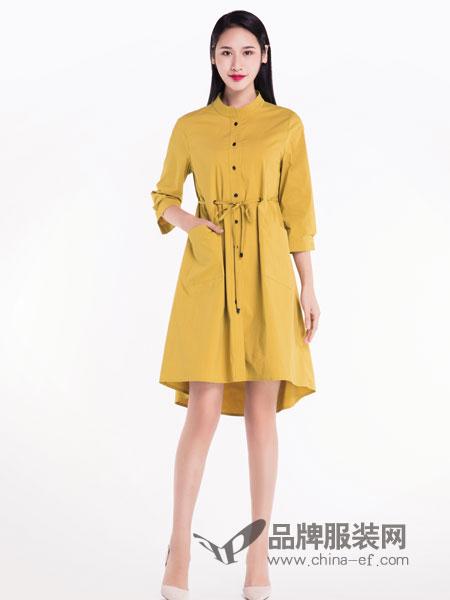 宝薇女装品牌2019春季中长款韩版系带显瘦时尚外套