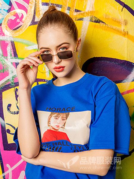 MYMIX(我的组合)女装品牌2019春夏破洞个性印花上衣潮