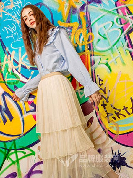 MYMIX(我的组合)女装品牌2019春夏小个子衬衫套装裙百褶裙两件套