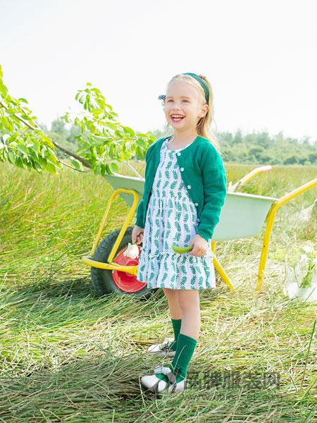 青蛙皇子童装品牌2019春季开衫女童外套针织衫