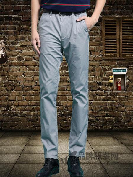 皇卡男装品牌2019春季直筒修身长裤男装夏季韩版青年百搭薄款裤子