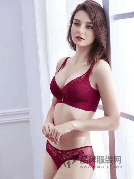 玫瑰春天内衣品牌2019春季无钢圈聚拢调整型套装大码潮流