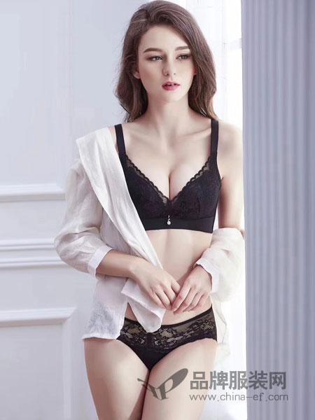 玫瑰春天内衣品牌2019春季小胸聚拢文胸薄款背心式调整型