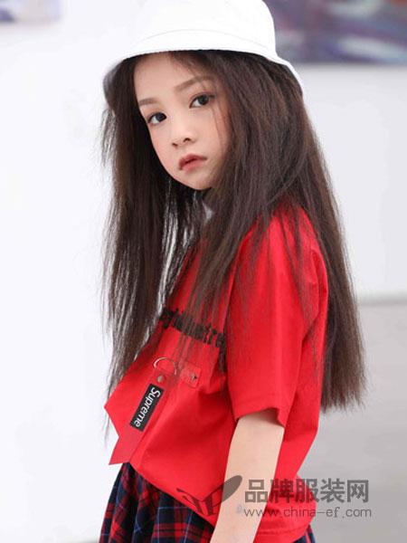 下一个奇迹童装品牌2019春夏运动休闲短袖针织连衣裙