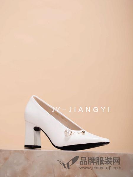 匠艺JY-JIANGYI鞋帽/领带品牌2019春季新款真皮单鞋浅口尖头百搭鞋子
