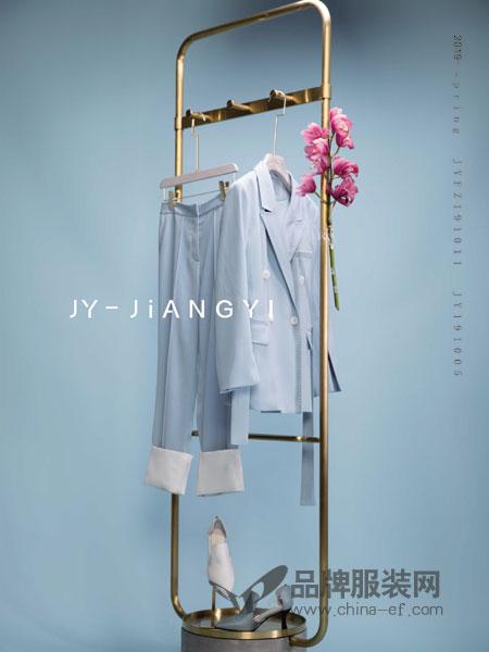 匠艺JY-JIANGYI鞋帽/领带品牌2019春季浅口真皮中跟方头细跟高跟鞋