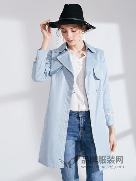 城市衣柜女装品牌2019春季新款收腰修身显瘦休闲时尚外套潮