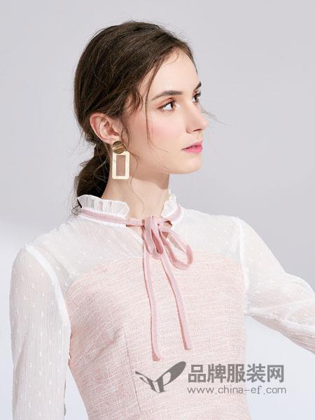 城市衣柜女装品牌2019春季新款韩版波点雪纺衫女装气质衬衫