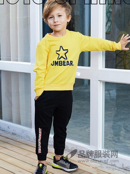 杰米熊童装品牌2019春季宽松外套衣服棒球服
