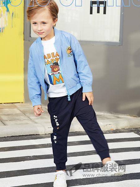 杰米熊童装品牌2019春季韩版新款男童夹克中小童拉链衫