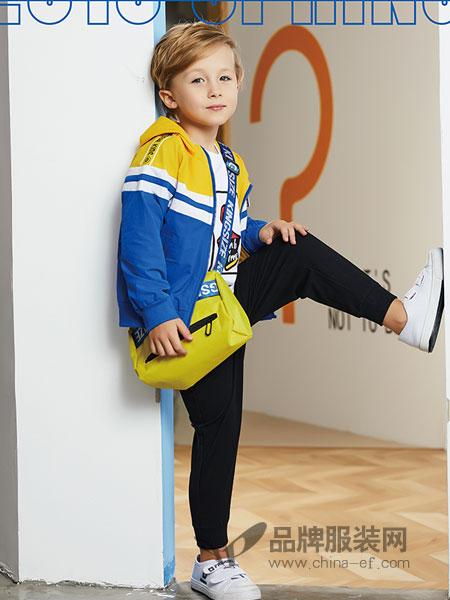 杰米熊童装品牌2019春季新款洋气外套中长款连帽