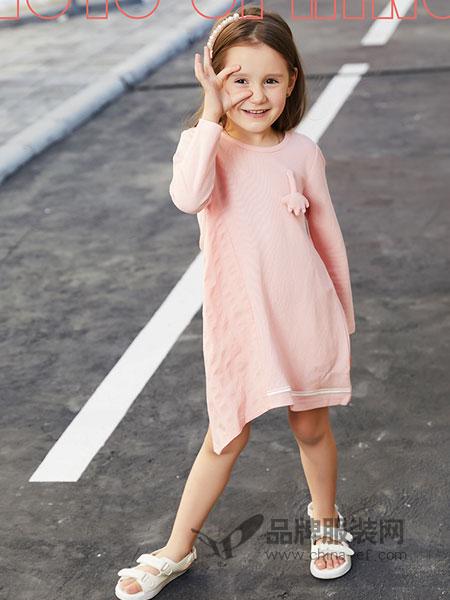 杰米熊童装品牌2019春季新款圆领打底针织衫