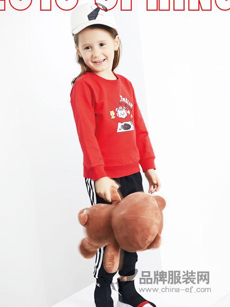杰米熊童装品牌2019春季新款中大童儿童上衣童装套头衫