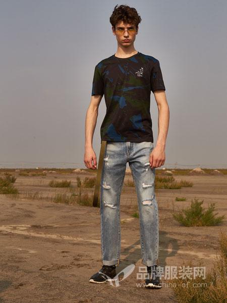 1943S男装品牌2019春夏极简休闲个性T恤