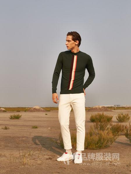 1943S男装品牌2019春夏复古商务修身针织衫