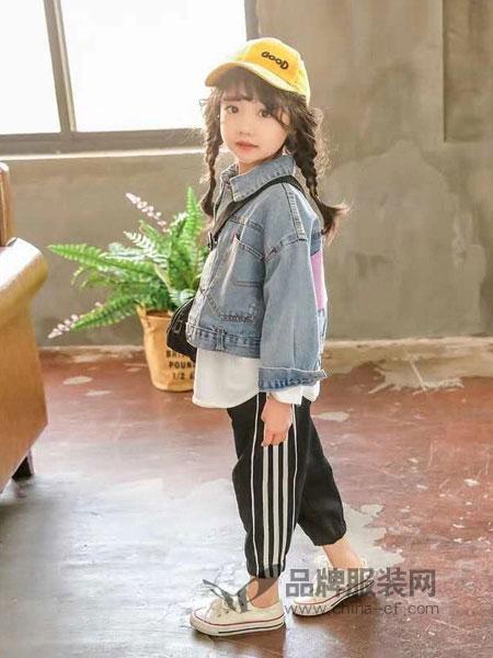 奇妙城堡童装品牌2019春季女童洋气外套新款儿童韩版时髦牛仔衣