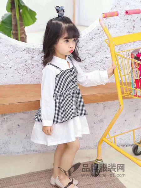 奇妙城堡童装品牌2019春季新款长袖连衣裙韩版潮衣童装洋气女孩公主裙