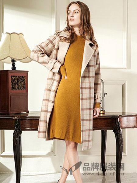衣之魂休闲品牌2019春季新款过膝羊绒双面外套