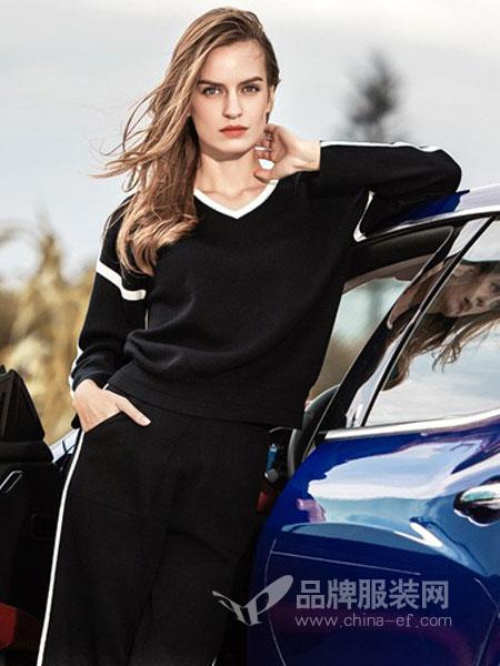 衣之魂休闲品牌2019春季新款时尚休闲运动黑色韩版潮流两件套