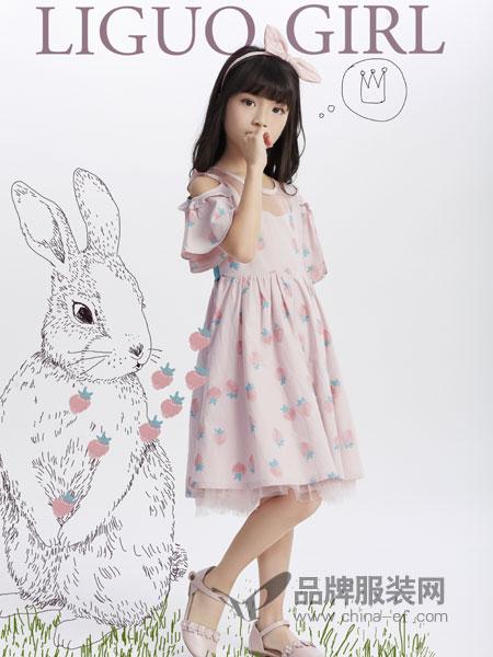 力果童装平安彩票网2019春季樱桃印花小飞袖荷叶边连衣裙