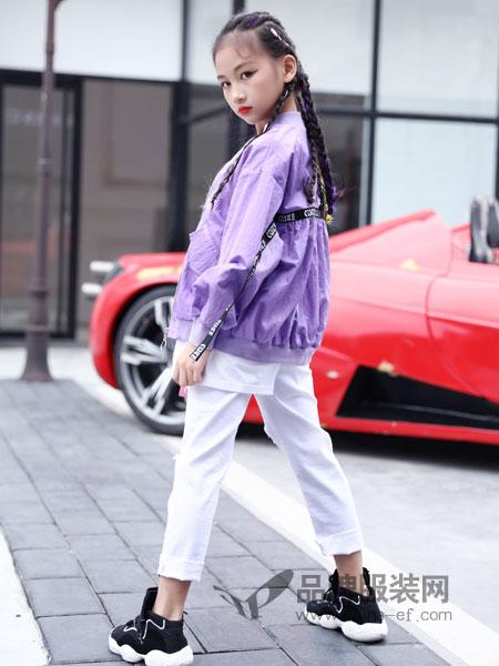快乐丘比童装品牌2019春季儿童外套女童棒球服新款韩版夹克