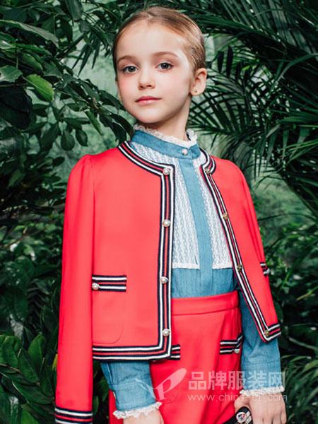 瑞比克童装品牌2019春季时尚开衫宽松显瘦上衣