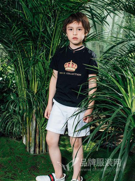 瑞比克童装品牌2019春季图案t恤短袖原宿风个性潮流