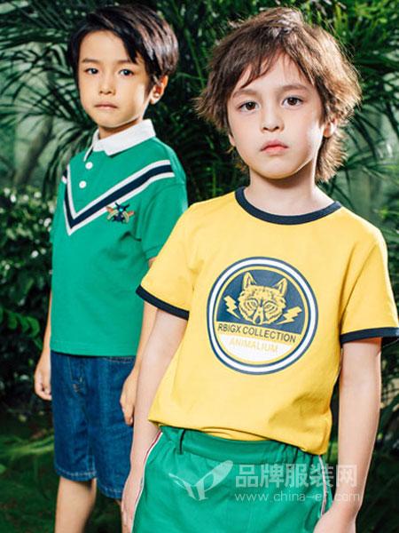 瑞比克童装品牌2019春季圆领宽松大版圆领短袖套头T恤