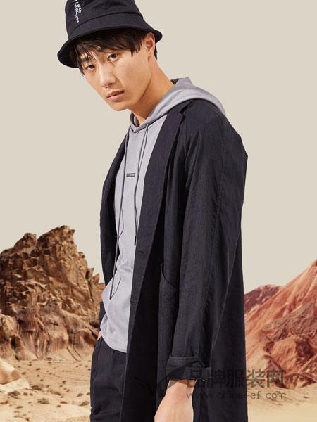 EGOU男装品牌2019春季商务修身西服套装外套