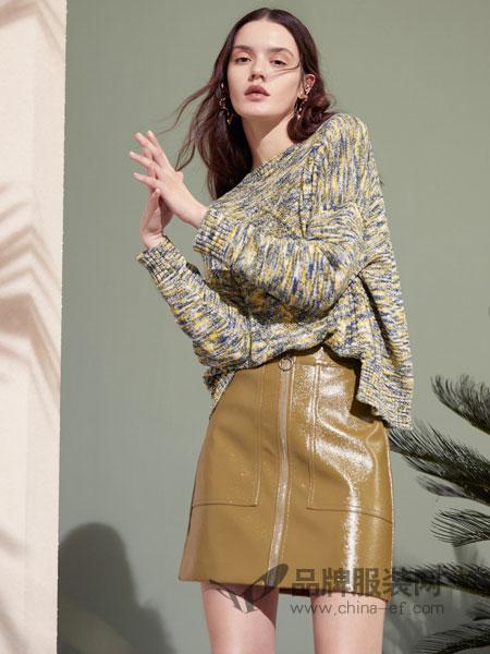 伊布都ibudu女装品牌2019春季新款韩版宽松百搭时尚混色长袖