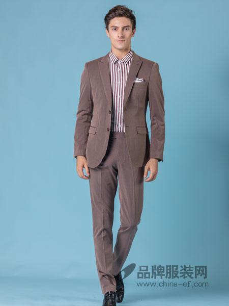 它钴TARGUO男装品牌2019春季西装三件套男商务韩版西服套装