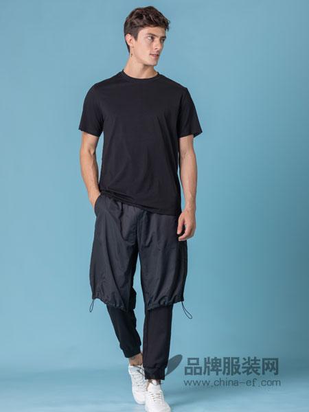 它钴TARGUO男装品牌2019春季运动休闲圆领短袖T恤