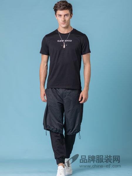 它钴TARGUO男装品牌2019春季韩版潮时尚休闲T恤
